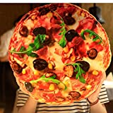Remeeehi 3D Plushed Pizza Hamburger Throw Pillow Toy (Pizza Large)