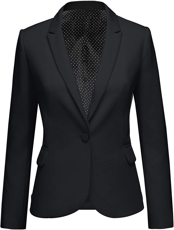 luvamia Women's Long Sleeve Formal Notch Lapel Button Down Blazer Pocket Jacket at  Women's Clothing store