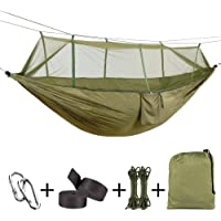 Navestar Double Hammock with Mosquito Net, 440 Pounds Capacity, Breathable & Portable for Outdoor Beach Camping Hiking/Indoor Garden Patio Porch