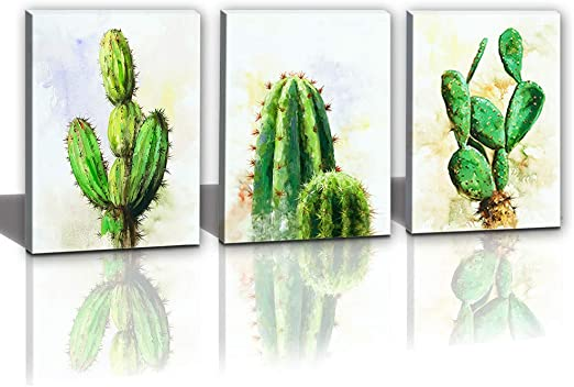 Amazon Com Hongwu Canvas Wall Art Cactus Desert Plant Painting 3