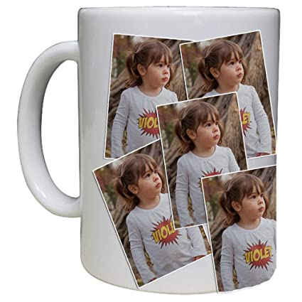 amazon com personalized mug photo collage custom mug 15 oz white