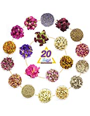 20 Packs Dried Flowers, DIY Candle Soap Making Supplies Soap Making Scents 100% Natural Dried Flowers Herbs Kit for DIY, Bath, Resin Jewelry…