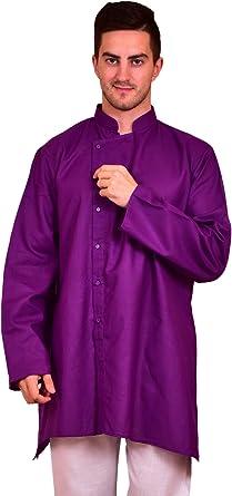 eloria Camisas de Vestir con Botones de Manga Larga Casuales para Hombre Hipster: Amazon.es: Ropa y accesorios