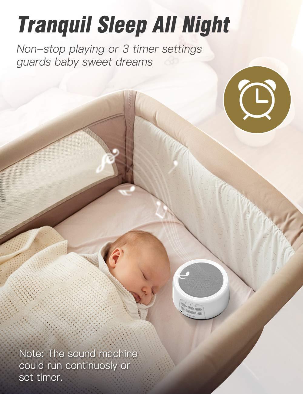 Amazon.com: Dreamegg D3 White Noise Machine - Rechargeable ...