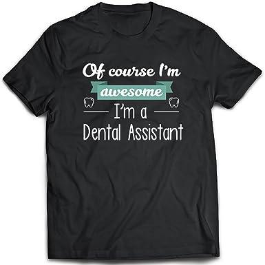 11b5e573 Viscustom Men T Shirts,Unisex Tee Funny Novelty Graphic-Dental Assistant  Shirt Black S