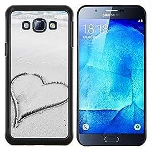 - Lover Heart - - Cubierta del caso de impacto con el patr??n Art Designs FOR Samsung Galaxy A8 A8000 Queen Pattern