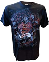 T-Shirt Superman Noir Dark Logo