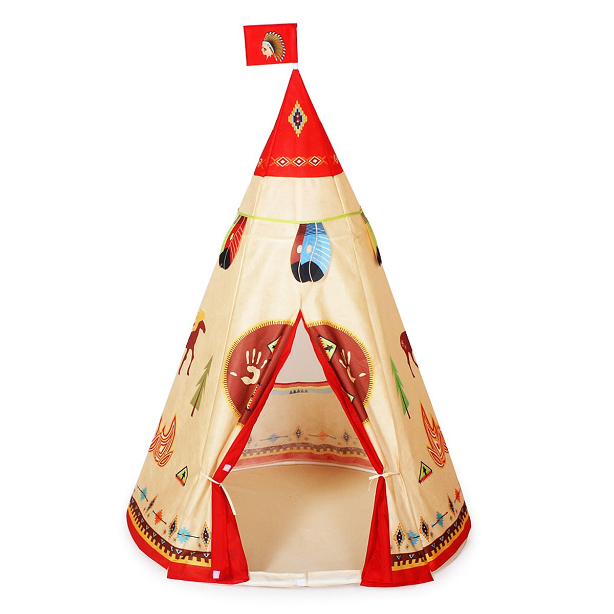 Design Childrens Teepee amazon com ylovetoys kids play tent indian teepee for children indoor outdoor use toys games