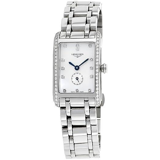 Longines Dolce Vita de mujer reloj de pulsera Diamante Acero inoxidable Cuarzo suizo l52550716: Amazon.es: Relojes