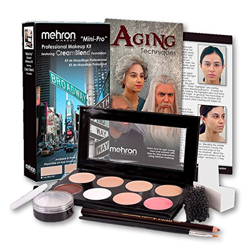 Mehron Mini-Pro Theatrical Kit Fair/Olive Fair Complexion KMP-NF