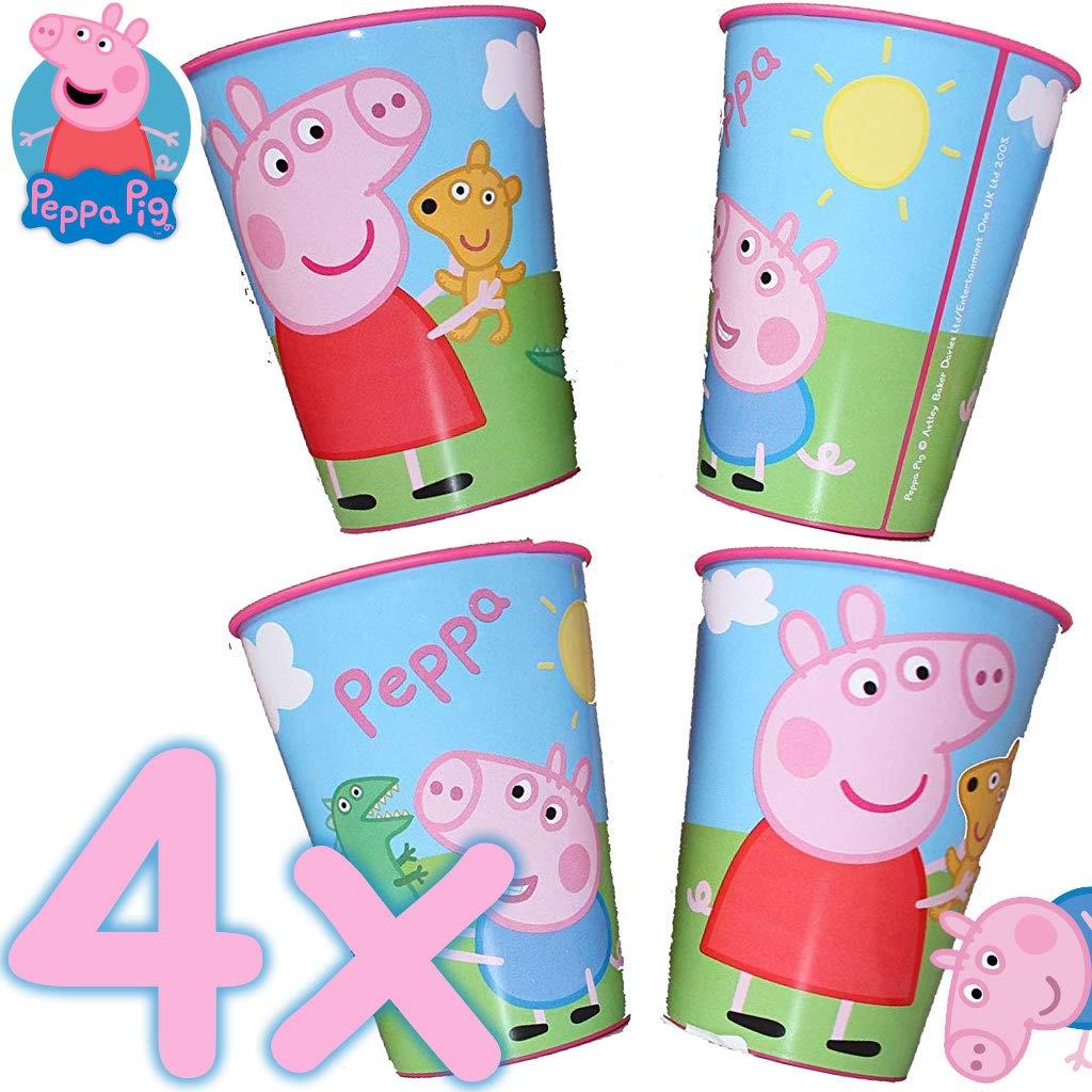 4 x Estable de Vasos de plástico * Peppa Pig * para Fiesta ...