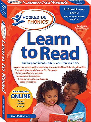 Hooked on Phonics Learn to Read - Level 2: All About Letters (Early Emergent Readers | Pre-K | Ages 3-4)