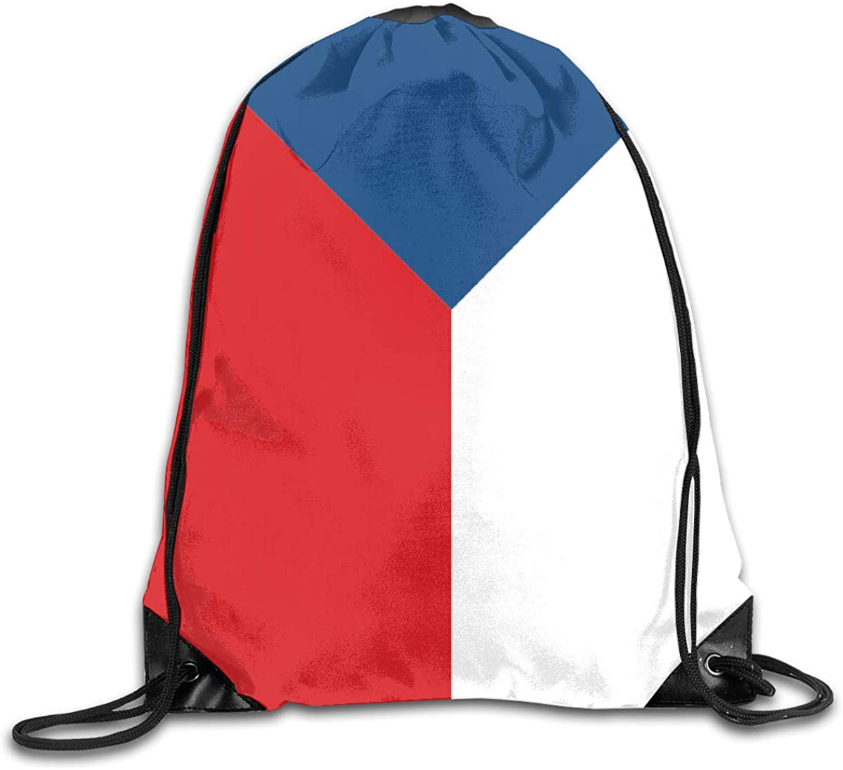Flag Of The Czech Republic Beam Mouth Backpack Pull Rope Shoulder Bag Outdoor Sports Leisure Bag