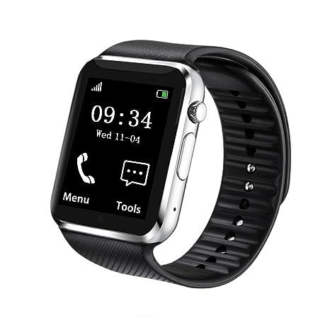 fantime reloj inteligente Bluetooth reloj de pulsera con tarjeta SIM/SD Card/cámara/