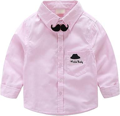 WanYang Camisa para Niños Escolar Niños Bebé Chicos Corbata ...