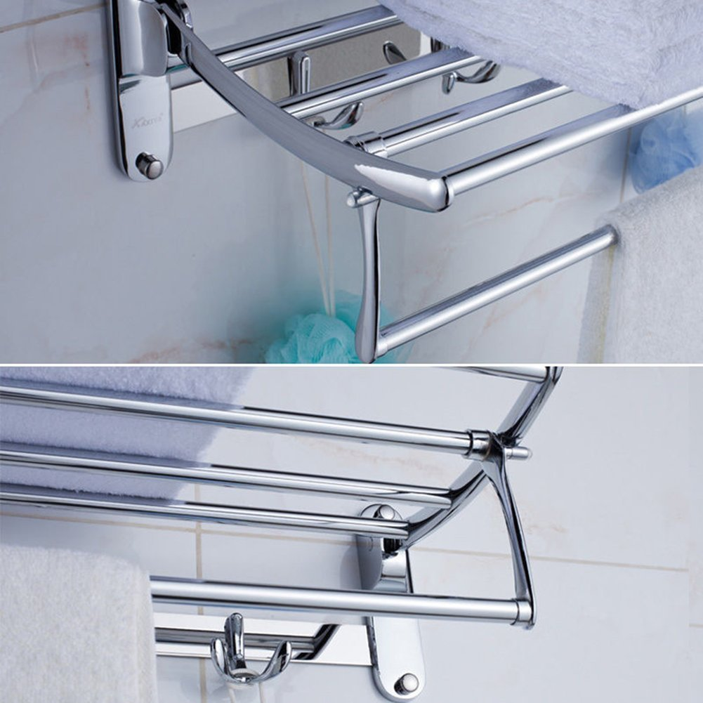 Candora® Stainless Steel Wall Mounted Bathroom Towel Rack Brushed ...