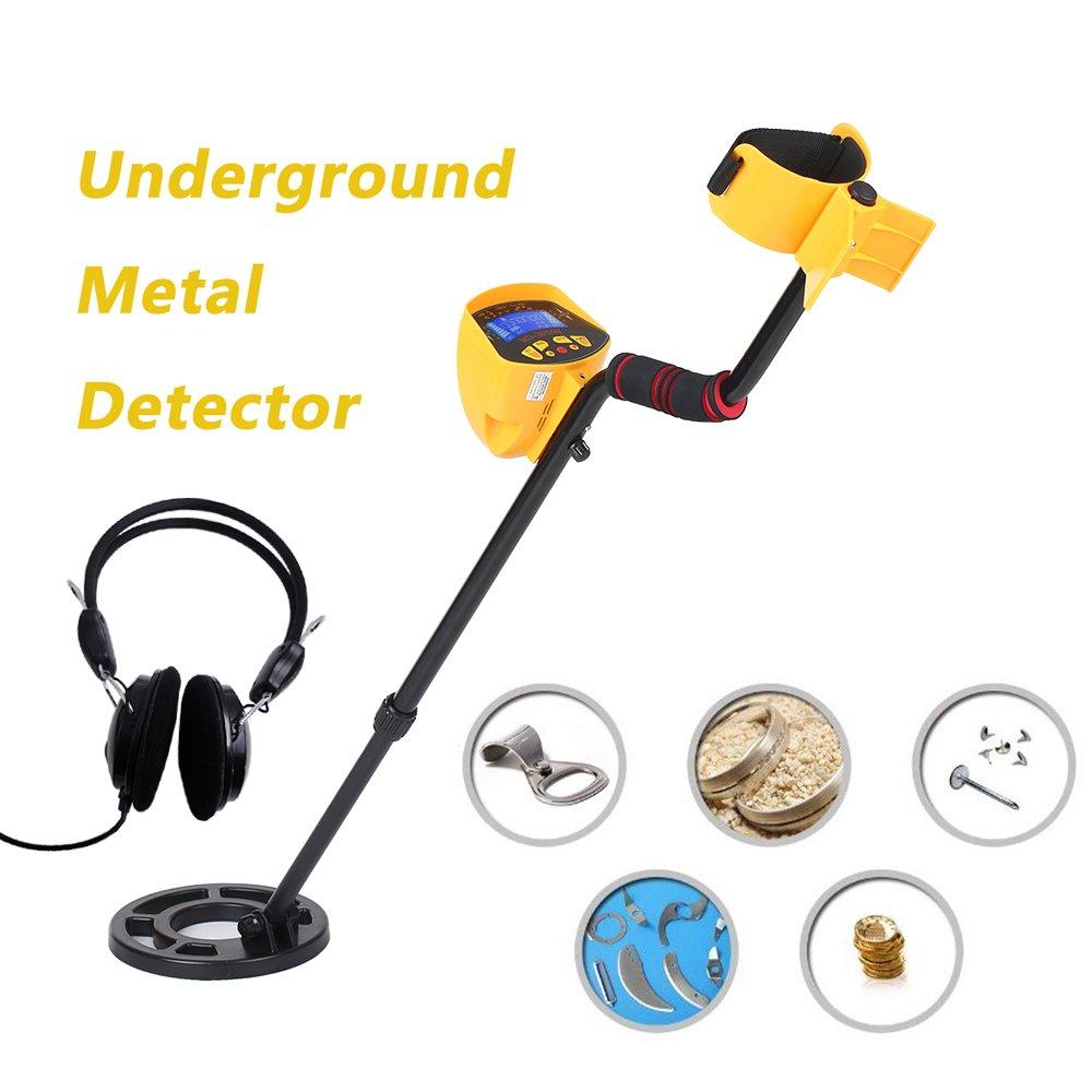KKmoon MD3010II - Detector de metales ABS + aluminio + cobre alta sensibilidad, detector de metales subterráneos (oro), localizador de metales para buscar ...