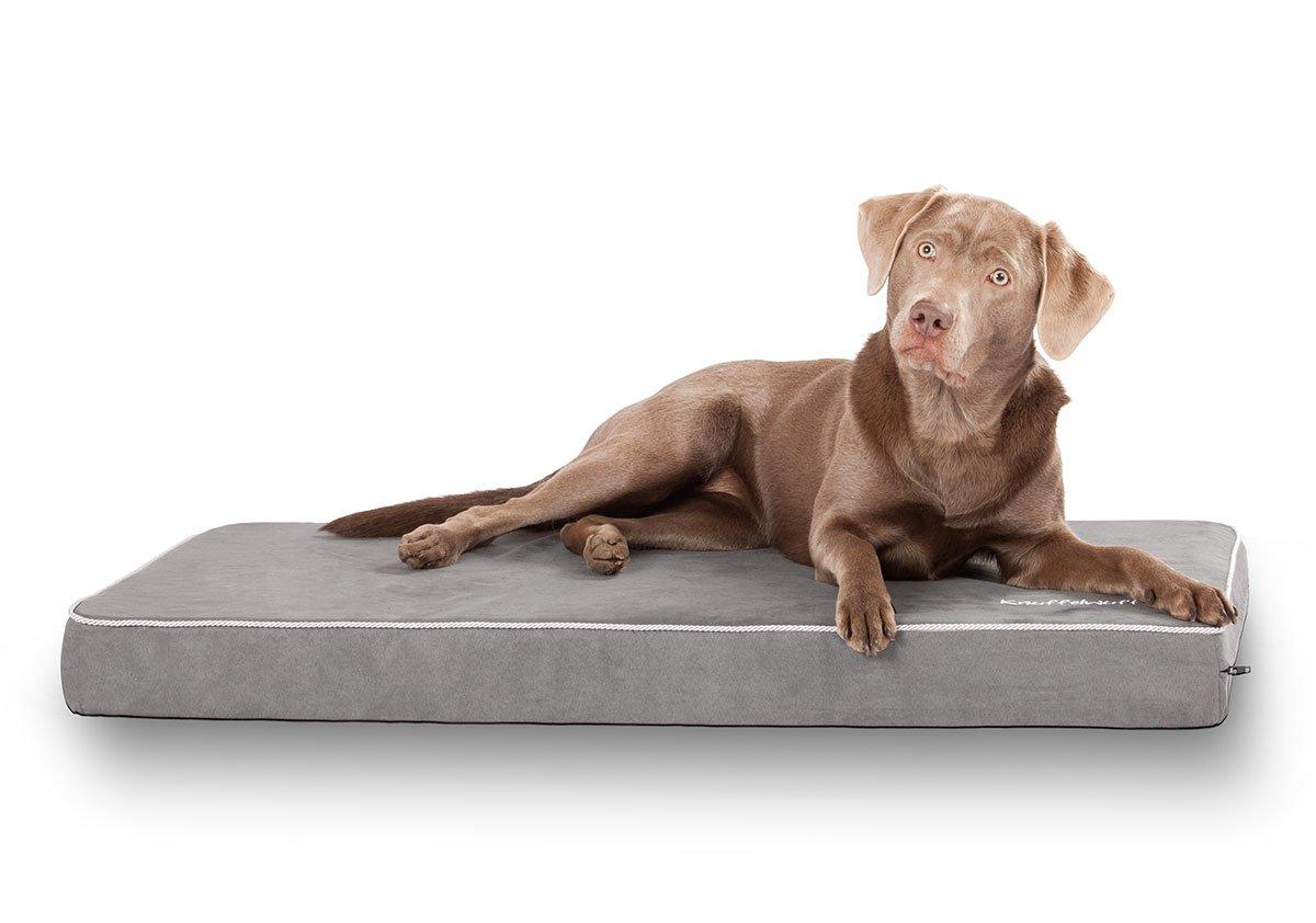 Knuffelwuff Tapis pour chien matelas Maui en mousse de 9 cm marron XXL 105 x 65cm 12739