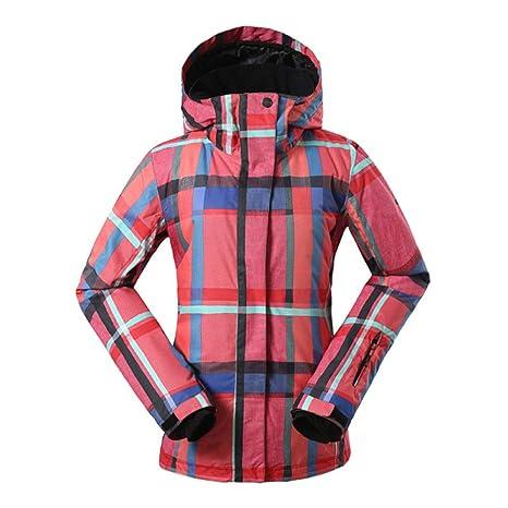 KD Chaqueta de esquí para Mujer, con Estilo Invierno Caliente ...