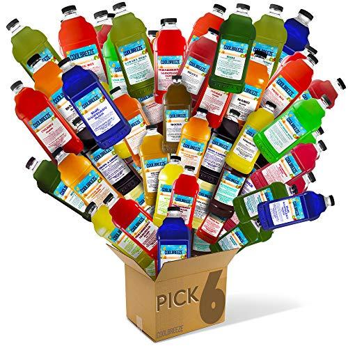 Cool Breeze Beverages [Pick Your SIX Flavors] Margarita Frozen Drink Machine Granita Slush Mix / Slushie Mix