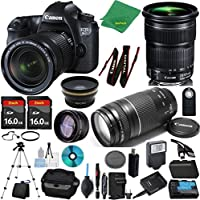 Canon EOS 6D Camera + 24-105mm STM + 75-300mm III + 2pcs 16GB Memory + Case + Reader + Tripod + Starter Set + Wide Angle + Telephoto + Flash + Battery + Charger + Filter - International Version