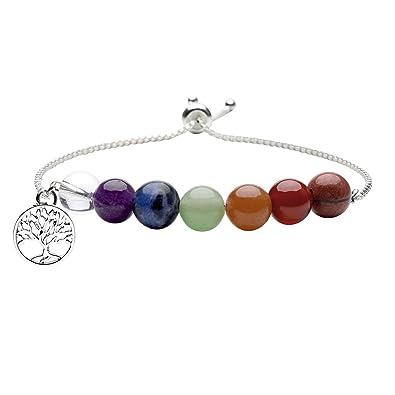 fe009dc1ec1e7 Amazon.com  Top Plaza 7 Chakra Healing Bracelet Real Stones