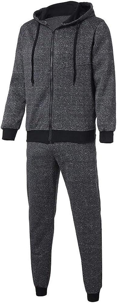Mens Patchwork Sweatshirt Top Pants Sets Sports Suit Tracksuit Jumper by Balakie Dark Gray,Gray,Navy,M//L//XL//XXL
