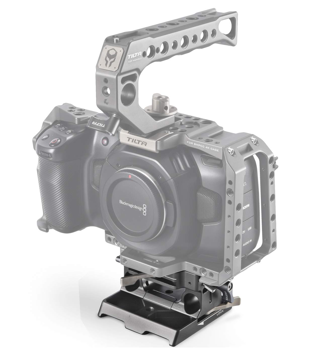 TILTA TA-SSDH-T5 T5 SSD Drive Cover for BMPCC 4K Cage Blackmagic Pocket Cinema Camera 4K Rig Tilta Gray