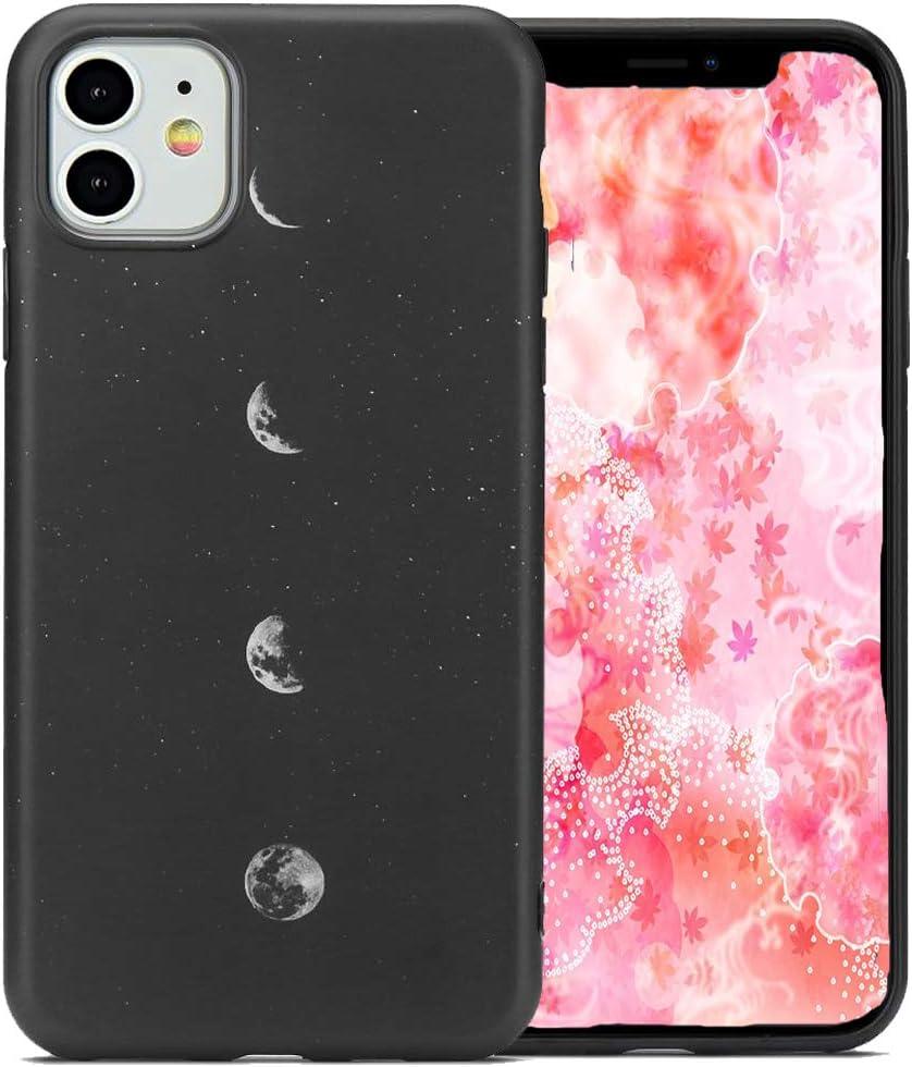 LCHULLE 2 Pack Handyh/ülle f/ür iPhone Xr H/ülle Anti-Fingerabdruck Schutzh/ülle Anti-Scratch Silikon H/ülle TPU Bumper Case Cover Schutz Tasche Schale Mond /& Chrysantheme