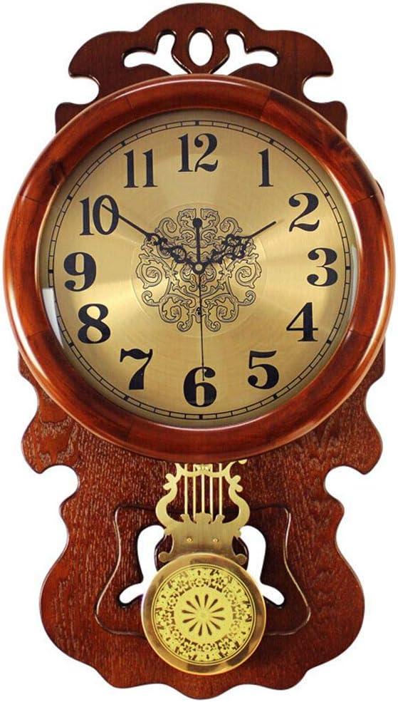 壁掛けアンティーク時計, ヴィンテージ 壁掛け時計, 柱 掛け時計,アンティーク調 木枠, 67Cm-34.5Cm
