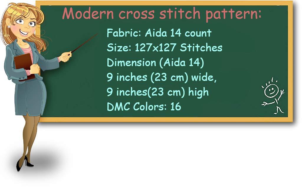 birds cute easy modern counted cross stitch sampler design home wall decor DIY Cross stitch pattern baby pdf simple cross stitch chart