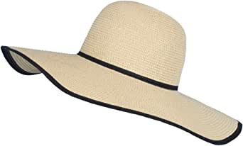 Women's Wide Brim Sun Protection Hat Folable Floppy Hats Summer UV Protection Beach Cap