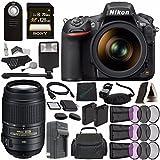 Nikon D810 DSLR Camera with 24-120mm Lens + Nikon AF-S DX NIKKOR 55-300mm f/4.5-5.6G ED VR Lens + Battery + Charger + Sony 128GB SDXC Card + HDMI Cable + Remote + Memory Card Wallet + Flash Bundle