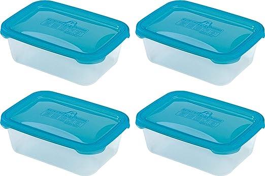 4 recipientes rectangulares de plástico para microondas ...