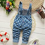 Chumhey Baby & Little Girls Blue Denim Overalls