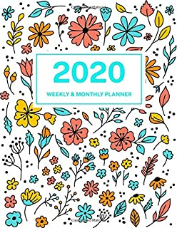 19/20 Planner: Weekly and Monthly Academic Calendar/Agenda ...