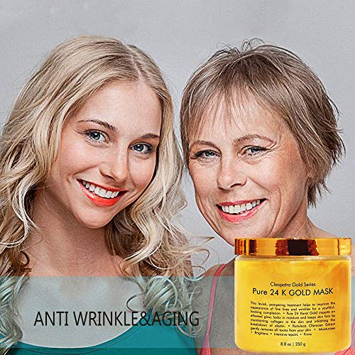 24K Gold Facial Mask,INST Ancient Face Mask Formula for Anti Aging Anti  Wrinkle Facial Treatment,Clears Acne, Minimizes Pores, Reduces Fine