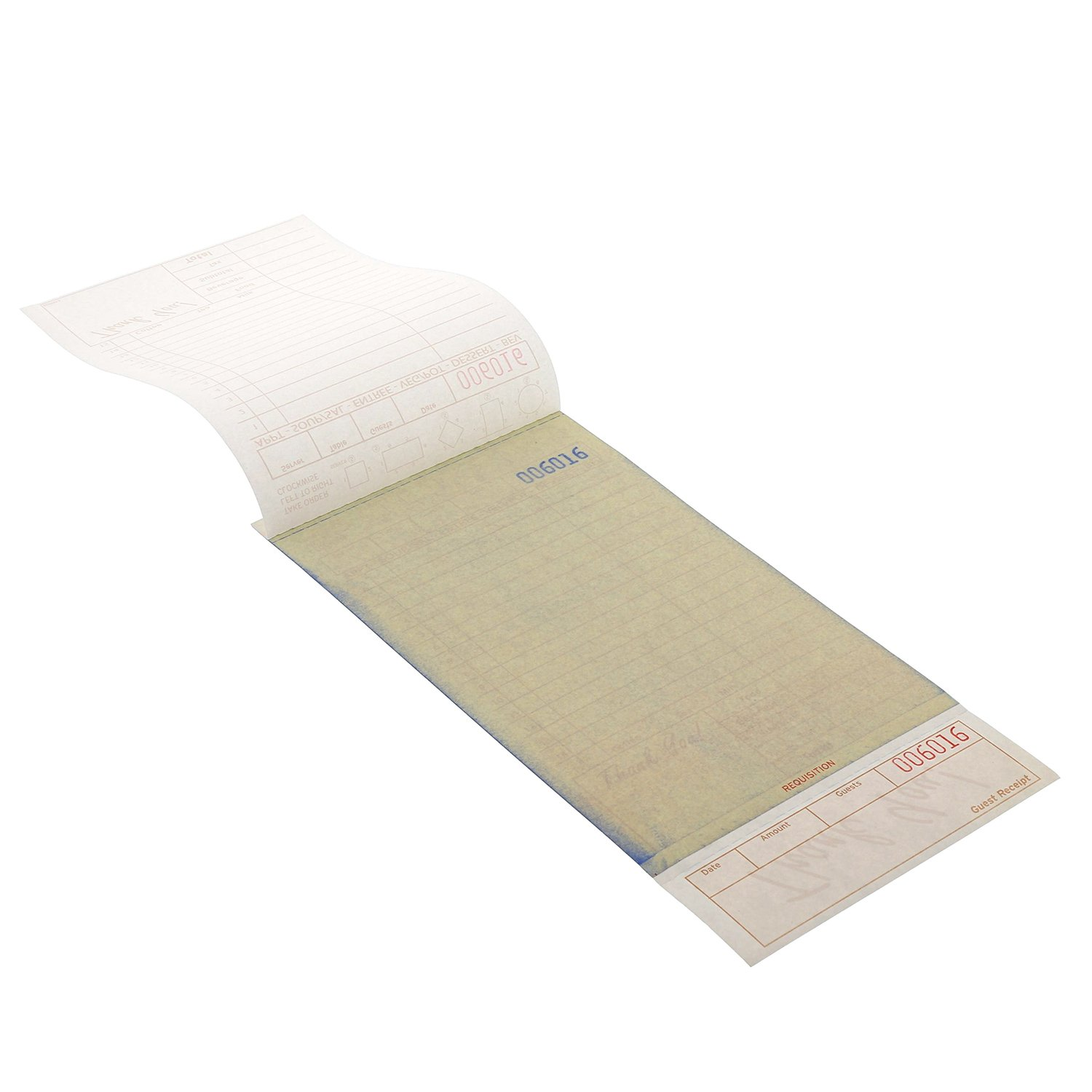 Royal Tan Guest Check Board, Carbonless 3 Part Loose, Package of 250