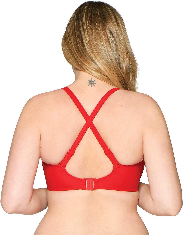 Curvy Kate Women's Sheer Class Balcony Bikini Top Red
