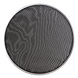 BQLZR 368mm Diameter Black Double Ply Mesh Silent Drum Head Drum Skins Percussion Accessories for 14nch Drum Kit Set
