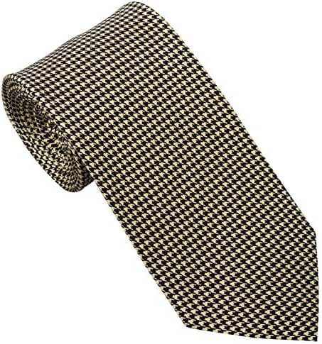 Handmade 7 Fold Silk Tie Houndstooth Design (19 Color Options) by Sebastien Grey