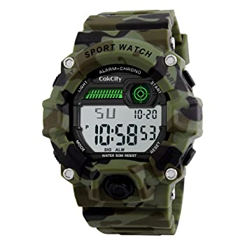 Boys Camouflage Digital Electronic Military Watch for Kids