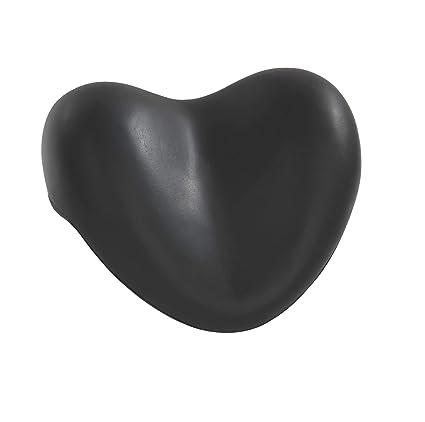 Wenko 18937100 - Protector de cuello para bañera en forma de corazón, color negro