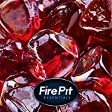 Red Fire Glass for Indoor and Outdoor Fire Pits or Fireplaces | 10 Pounds | Marlboro Red, Fire Glass Diamonds, 1 Inch