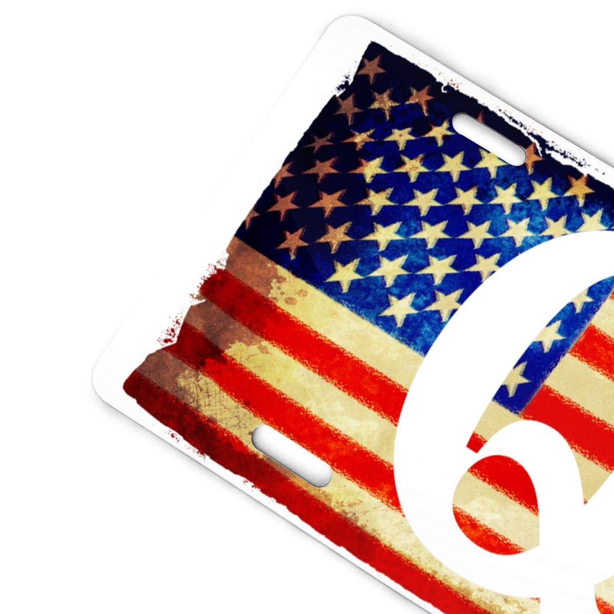 QAnon American Flag Im Part of The Storm Retro License Plates Metal Signs Home Wall Decoration Tag 6x12 in