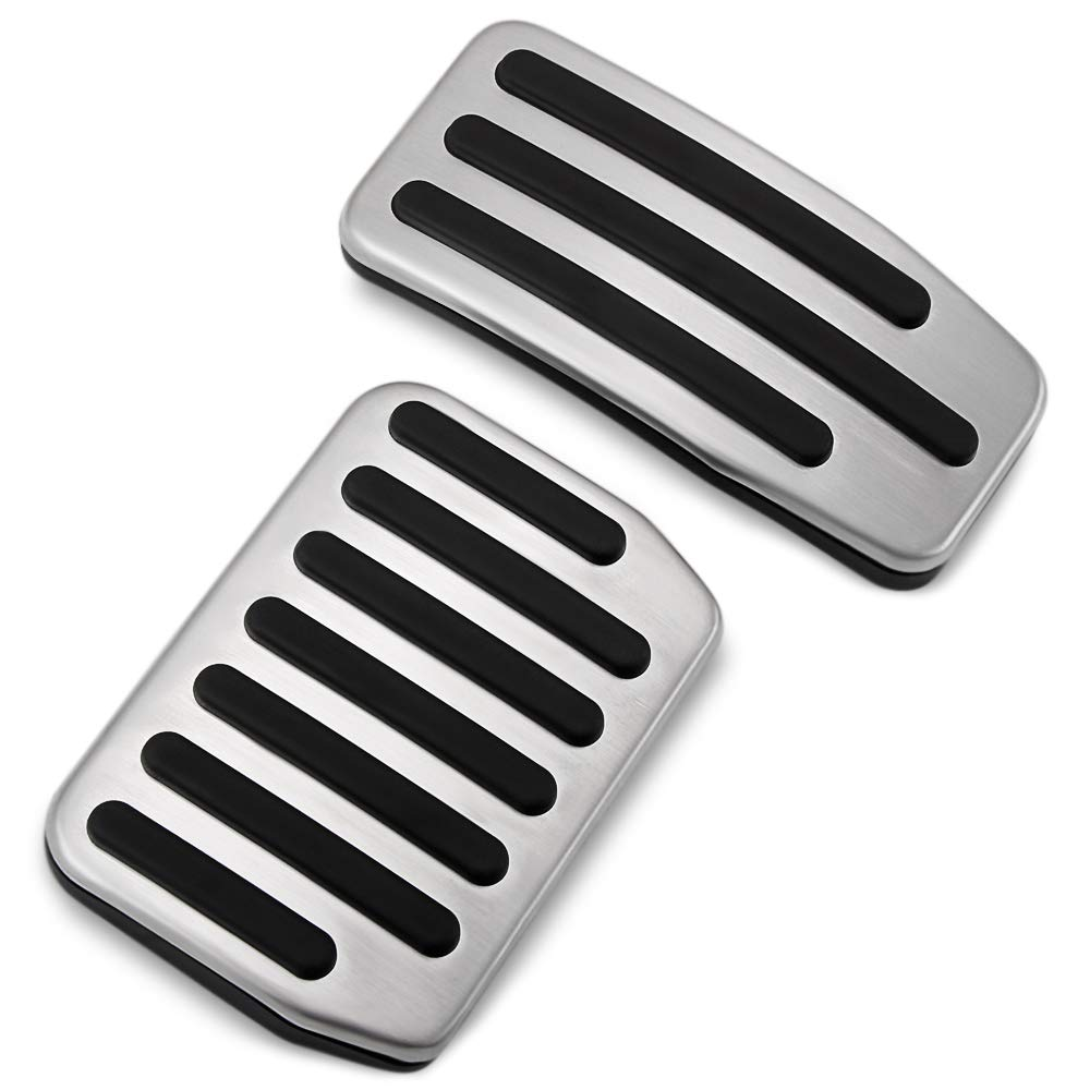 JessicaAlba Non-Slip Performance Foot Pedal Pads,Auto Aluminum Pedal Covers Fit Tesla Model 3