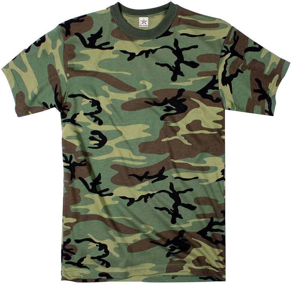 TALLA XX-grande. Estrella y rayas - Army camouflage camiseta in adult