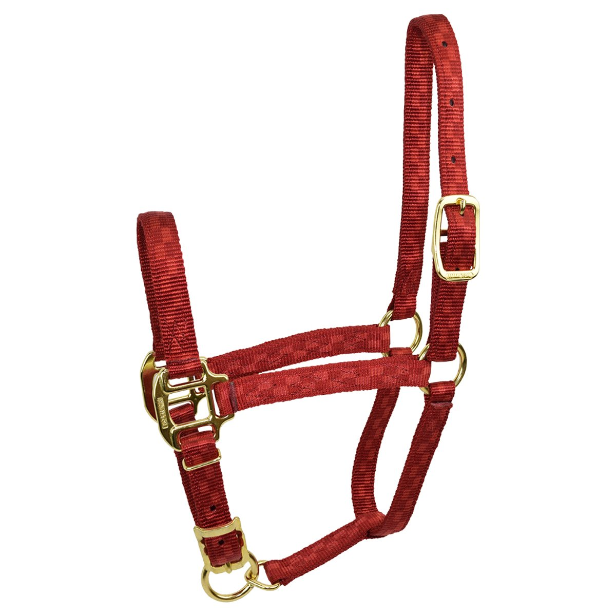 Checkered Red Weanling Checkered Red Weanling Hamilton Adjustable Quality 200-300 lb Weanling Horse Halter, 3 4 , Red Checkerboard