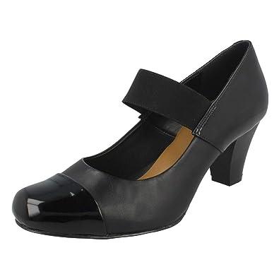 67b0f98523b7c2 Clarks Ladies Mary Jane Style Shoe Alpine Angel Black Size 4.5D   Amazon.co.uk  Shoes   Bags