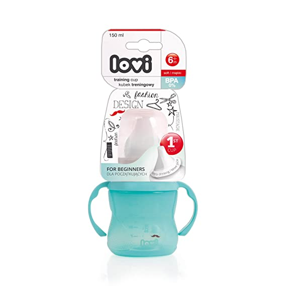 LOVI Retro - Taza entrenamiento, 150 ml, color mint